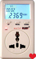 Wholesale Ship free Energy Mini Power Meter Amp Volt Watt Monitor Analyzer