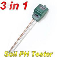 Wholesale in Plant Flowers Soil Test Kits PH Tester Moisture Meter Light Illuminance Analyzer freeshipping