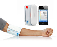 Wholesale Home care iHealth BP5 Wireless Blood Pressure Monitor bluetooth Automatic Arm Cuff For iPod iTouch iPhone digital Sphygmomanometer