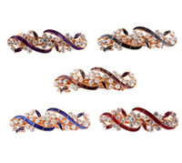 Wholesale New Women Classic Hair Accessories Luxury Flower Crystal Rhinestone Flower Hair Clip Bride Hairpin For Party Feast Wedding Freeshipping