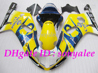 Wholesale 7gifts fairings Free custom high quality yellow blue white black for SUZUKI GSXR600 GSXR750 GSX R750 body kit gifts e9983