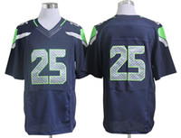 Cheap 2014 Seahawks 25 Sherman Blue Elite Jerseys Brand Jerseys Mens Sportswear Super Bowl American Athletic Jerseys High Quality New Arrival