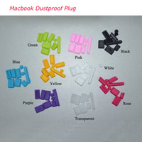 Wholesale 9 Colors Cheap Data Port Dustproof Plug For Macbook Pro Air Rustproof Silicon Apply to Macbook Retina Free HK Post