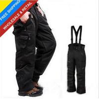 Wholesale brand men s in1 fleece inner winter waterproof windproof outdoor pants ski snowboard pants trousers