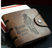 american tracks - with tracking number Brand new Leather Wallet Cowboy Men Pockets Card Clutch Cente Bifold Purse