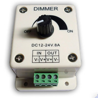 dim - Fedex DHL UPS V A W Single Color Knob LED Dimmer Controller for samsung LED Strip Lights