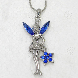 Wholesale F190 B Marquise Blue Crystal Rhinestone Necklaces & Pendants Chains