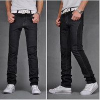 Wholesale Korean version of the Slim hit the color printing fold jeans for men