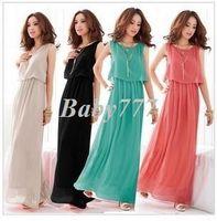 Casual Dresses Strapless A Line Fashion Women Lady Bohemian Boho Maxi Dress Chiffon Long Pleated Sundress Evening Party Dress Black Floor-Length