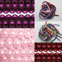 Wholesale Stylish mm Appealing Faux Pearls Charming Glass Pearl Loose Beads Spacer For Jewelry Necklace Making Colors Choose BDG