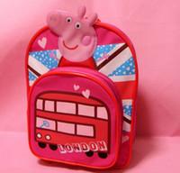 Children Schoolbags London bus pig Backpack Kid book bags gi...