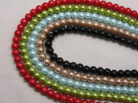 Wholesale 6mm Appealing Faux Pearls Charming Colorful Glass Pearl Loose Beads Spacer For Jewelry Necklace Making BDG1