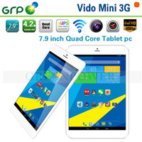 Wholesale 7 inch GPS Bluetooth Dual Camera HDMI MT8389 Quad Core GB GB WCDMA G Phone Tablet Vido Mini G Google Android