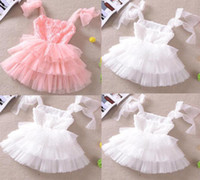 Wholesale Details about baby girls kids toddler wedding tutu ball dress kids summer beach skirt sundress
