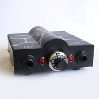 Wholesale 2015 Newest Fashion Spiderweb surface Black Mini Tattoo Power Supply Dual Output Power Supply PS for Tattoo Machine