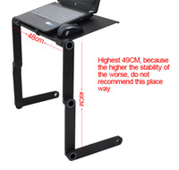 Wholesale New Extended Edition Aluminum Laptop Table Folding Computer Desk Bed Table Desk Free mm Desktop Black Y4089A8