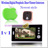 Wholesale Wireless quot LCD Digital Security Door Viewer Peephole Spyhole Camera Video Bell System video door phone support take photos