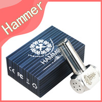 Electronic Cigarette Set Series  Hammer Mods full mechanical mod with 2 extension tubes 18350mAh 18500mAh 18650mAh vapor gift box kit e cigarette Nemesis Ikarus mod DHL free