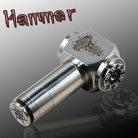 Electronic Cigarette Set Series  Stainless steel Hammer Epipe Mod 18650mAh E pipe Mod Mechanical E pipe Mod electronical cigarette mini e pipe with gift box free shipping
