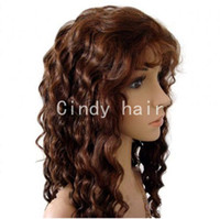 Wholesale Cheap Price Deep Wave Real Human Virgin Indian Hair Full Lace Wigs On Sale CHW004