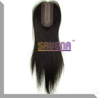 """Brazilian Hair Straight 10"""" 12"""" 5A Remy Silk Base Lace Closure Virgin Silk Base Lace Closure Straight Brazilian Hair Middle Part 1pcs lot 10''-12'' 1B# Color Free Shipping"""