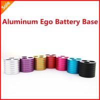 Electronic Cigarette aluminum battery tray - 5pcs Three holes Aluminum metal ego base Ego Battery Base ecig holder ego battery stand atomizer tray