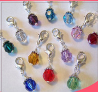 Wholesale 20pcs mixed colors NEW Floating CRYSTAL DANGLES for Living Locket Necklace Charm Bracelet Jewelry