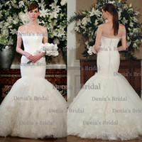 Cheap 2014 New Sexy Sheer Wrap Lace Applique Peplum Covered Buttons Mermaid Strapless Cap Sleeves Sweep Train Tulle Wedding Dresses Dhyz 01