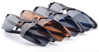 al box - High End Al Mg Polarized Sunglasses Cycling Eyewear with glass box