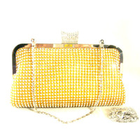 evening bag beauty gift bags - blingbling luxurious crystal evening handbag dailyclutch totebag gold silver black chains as gifts Beauty Paradise RHBB