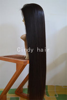 Wholesale New Arrival Long Natural Silk Straight Brazilian Virgin Hair Silk Top Full Lace Wigs with Quality Assurance