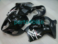 Wholesale pure black fairing For SUZUKI GSX R1300 Hayabusa ABS Fairing GSXR1300 Bodywork J