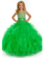 Floor Length Ball Gown Girl's Pageant Dresses Sexy lovely gr...