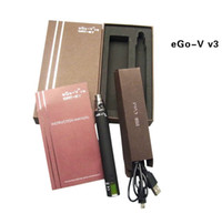 1300mAh Adjustable ego-vv3 battery electronic cigarette EGO-VV3 battery variable voltage battery 1300mAh ego V V3 upgrade ego-v v2 for cash atomizer LED tank 30pcs