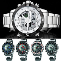Wholesale S5Q Luxury Mens Army LCD Dual Display Alarm Chronograph Sport Wrist Watch AAACGD