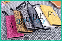 Wholesale PU Leather Leopard Skin Leather case for Nokia Lumia N920 Smart Stand Case With Card and Rope
