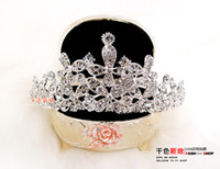Headbands Rhinestone/Crystal Bridal Hair Accessories New Free Shipping Bling Shining Rhinestone Bridal Hair Crown Tiara Hair Pin Wedding Jewelry Accessories Rhinestone Crystal Hair Accessory