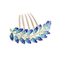Hair Barrettes & Hairpins hair clip Crystal Rhinestone  New Arrivals Olive leaf Design Women Hair Accessories Luxury Crystal Rhinestone Hairdisk Hair Comb Bride Hairpin For Party Banquet Wedding