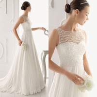 Wholesale Fashion A line Bridal Sleeveless Gown Chiffon Lace Sweep Train Chinese Wedding Dress DL1300428