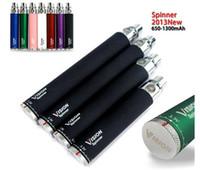 Видение Spinner Эго ˙c крутить электронная сигарета эго-C поворот батареи 650 900 1100 1300 мАч Напряжение 3.3-4.8V Переменная DHL EMS бесплатно