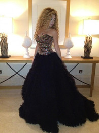 Wholesale 2014 Beautiful Myriam Fares Dresses Sexy Sweetheart Colorful Beaded Tulle Backless Celebrity Dresses Evening Gowns Prom Dress Pageant Dress