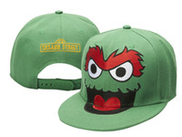 Wholesale Green Sesame Street Cookie Monster X Snapback Adjustable hats Are Extremely Loved By People sports hats