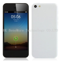 Wholesale 32GB IOS7 UI Goophone I5C C Dual Core Smart Phone Inch QHD Screen Android MTK6572 Ghz Single Sim Card G Mobile Phone Colors