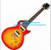 Wholesale Orange Yellow Red Burst Tak Matsumoto Tak Burst LP standard Mahogany Body Maple Big Flower Veneer Electric Guitar No
