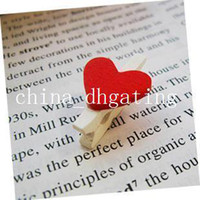 Wholesale new love small clamps wood clip box