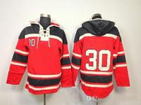 best mens winter coat - Cheap Hockey Hoodies Jonathan Toews Red Stitched Hooded Ice Hockey Jerseys Mens Winter Athletic Sportswear Best Hockey Coats