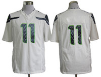 Wholesale 11 Harvin White Mens Game Jerseys Brand Sports Jerseys Athletic Outdoor Apparel Super Bowl With Names and Numbers Fans Love Discout