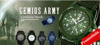 Wholesale Promotion Mix colors Cool Summer Men Sport Military Army Pilot Fabric Strap Sports Men Watch SA006