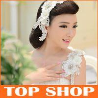 Wholesale Fashion Lace Rhinestone Bridal Headdress Flower CM Shoulder Chain Bridal Hair Accessories Vintage For Flower Hair Bridal