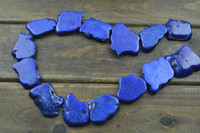 Wholesale Royal Blue Howlite Turquoise Slab Freeform Slice Loose Beads for Fashion Jewelry Making strands per